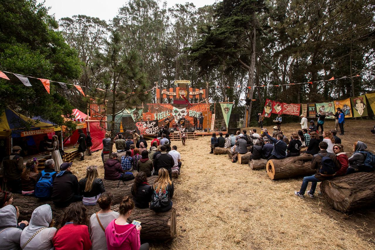 Flotsam's Wonder World at Outside Lands Music and Arts Festival 2014 in Golden Gate Park, Sanfrancisco CA.