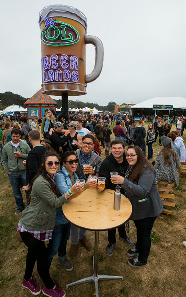 The venue at Outside Lands Music and Arts Festival 2014 in Golden Gate Park, Sanfrancisco CA.