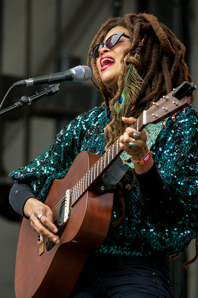 Valerie June performs during the Outside Lands Music and Arts Festival 2014 in Golden Gate Park, Sanfrancisco CA.