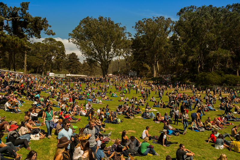 The venue at the Outside Lands Music and Arts Festival 2014 in Golden Gate Park, Sanfrancisco CA.