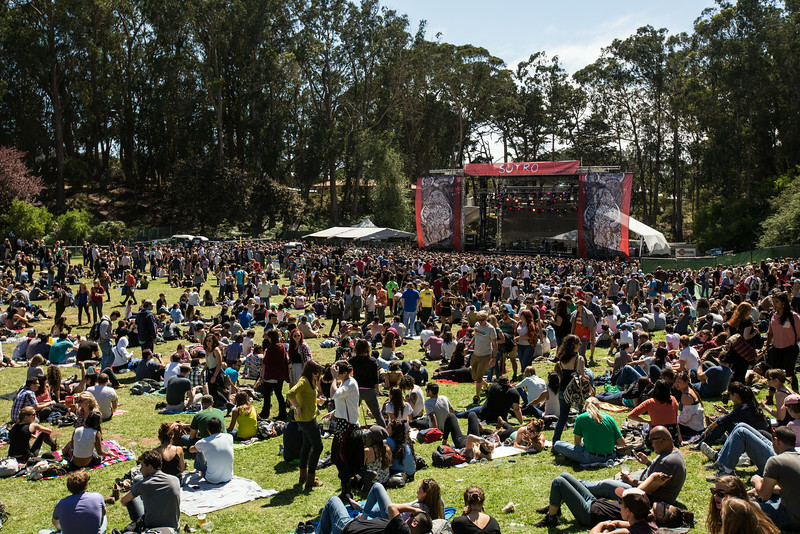 Lucius performs during the Outside Lands Music and Arts Festival 2014 in Golden Gate Park, Sanfrancisco CA.