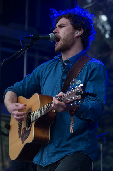 Vance Joy performs during the Outside Lands Music and Arts Festival 2014 in Golden Gate Park, Sanfrancisco CA. Vance Joy, singer   Jonathan Colliver, bass   Christopher Mulham, keys   Edwin White, drums.