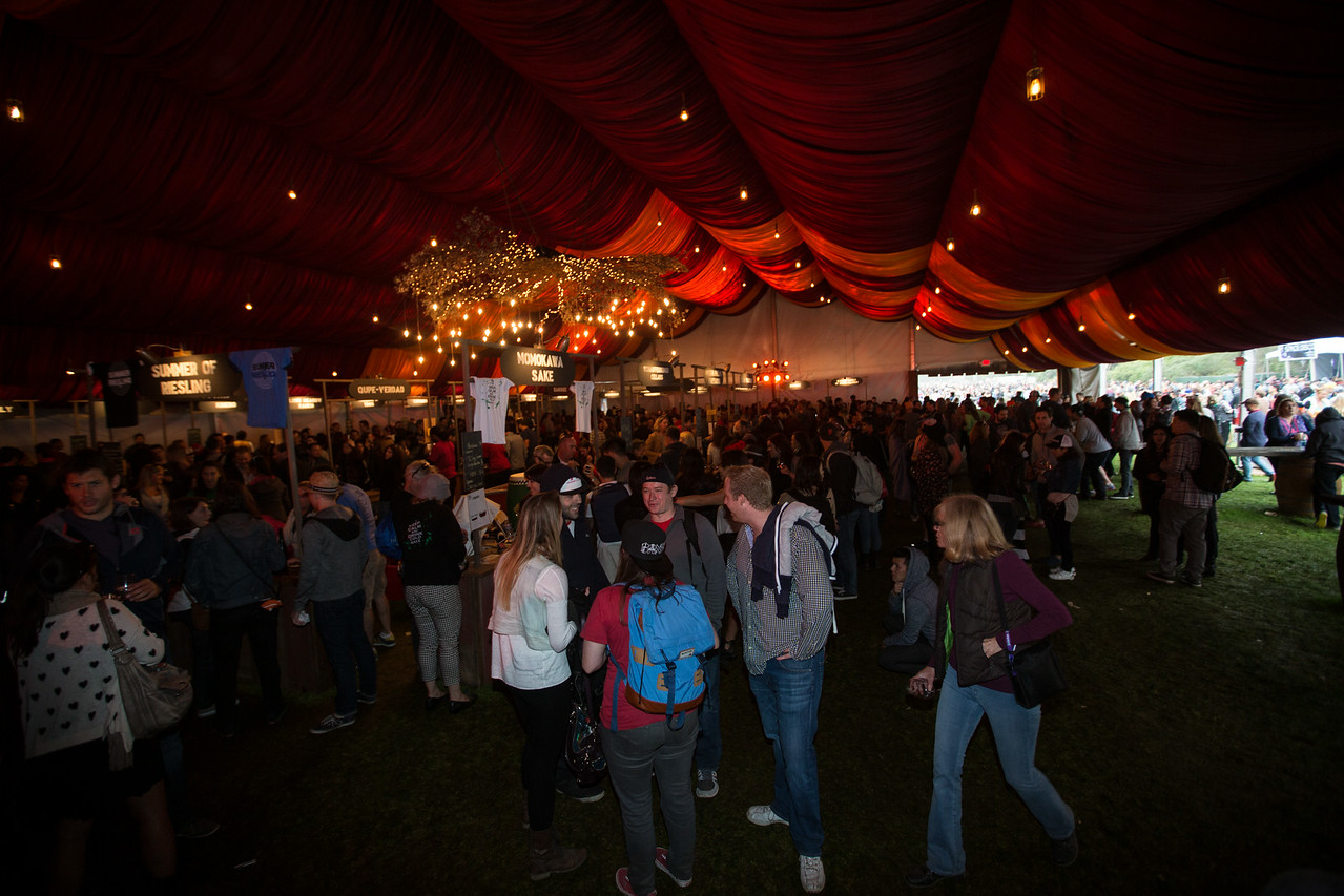 Wine Lands at the Outside Lands Music and Arts Festival 2014 in Golden Gate Park, Sanfrancisco CA.