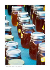 vendor display of honey, Pueblo Chili and Frijole Festival