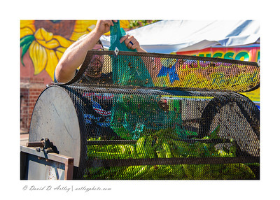 Roasting Chilis, Pueblo Chili and Frijole Festival