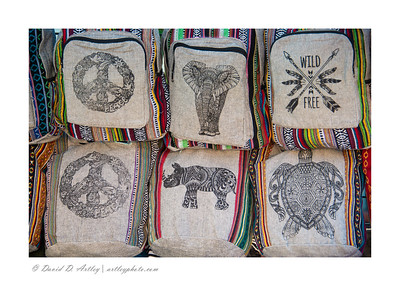 Vendor display of handbags, Pueblo Chili and Frijole Festivall