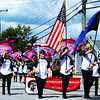 Debbie Blank | The Herald-Tribune<br /> Students carrying colorful flags introduced the East Central High School band.
