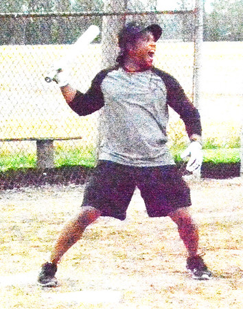 Debbie Blank   The Herald-Tribune<br /> At 6:45 p.m., Luis Sanchez, West Harrison, was in the lead of the Home Run Derby with a top distance of 333.7 feet and five home runs (hits over 250 feet).
