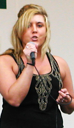 Diane Raver | The Herald-Tribune  <br /> Sadee Flannery, Batesville, was one of seven Sunman Idol competitors. The judges told her she had a really strong voice.