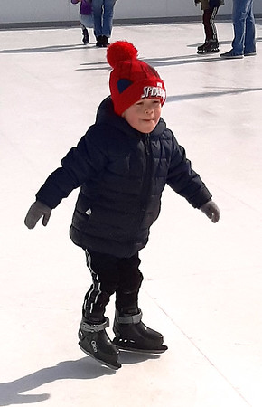 Ayden Vanderver, 3, Batesville, enjoyed the skating experience.