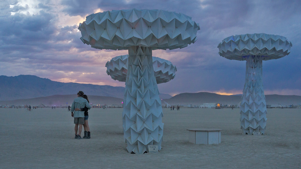 Dusk on the playa