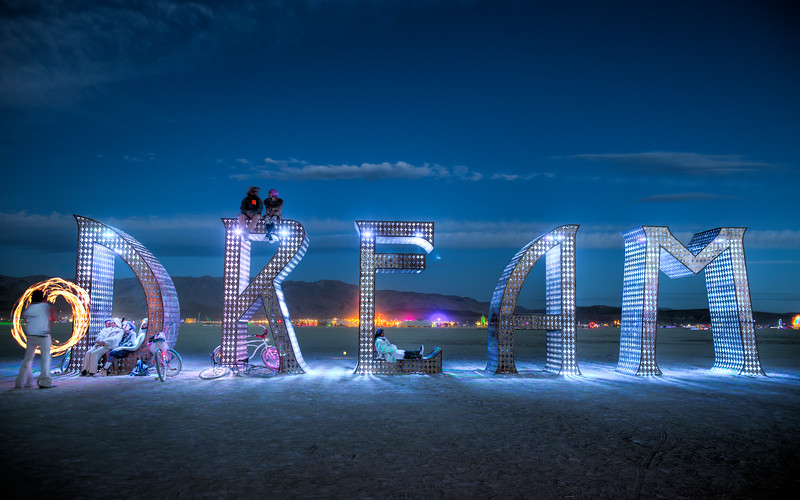 Another week of kicking up dust with the most amazing friends. Burning Man is the most incredible manifestation of human creativity imaginable where tens of thousands of people dreamed and acted on those dreams to create a city. Thank you! Art by Laura Kimpton