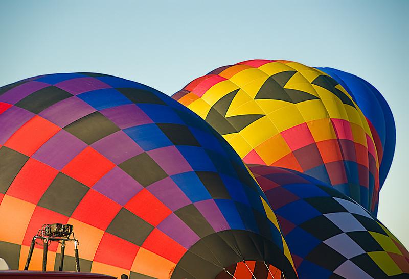 Balloons Inflating, Albuquerque Balloon Fiesta