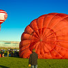 Inflating Balloon, Albuquerque Balloon Fiesta
