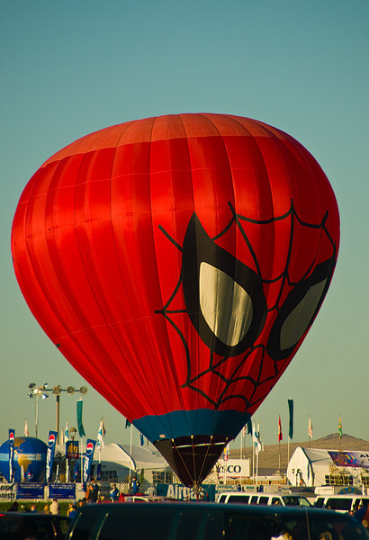 Spiderman Balloon, Albuquerque Balloon Fiesta