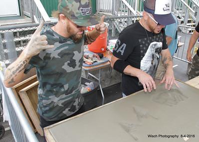 LoCash Hands in Cement WeFest 2016