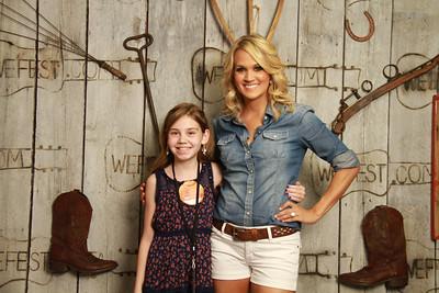 WeFest Carrie Underwood Meet n Greet 2013