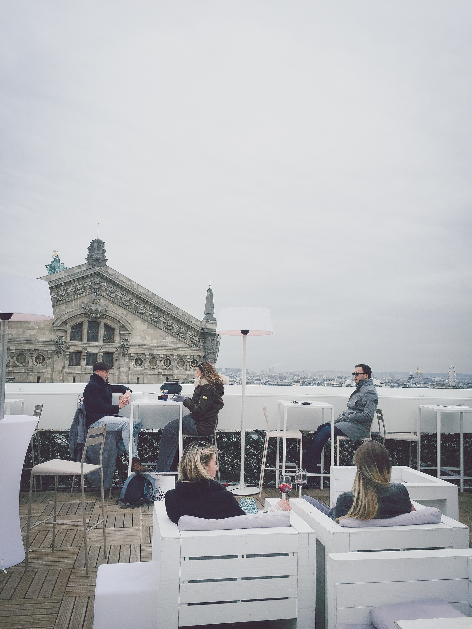 The Ice Cube bar on the Galeries Layfayette rooftop is just option for gourmet food at Galeries Layfayette.