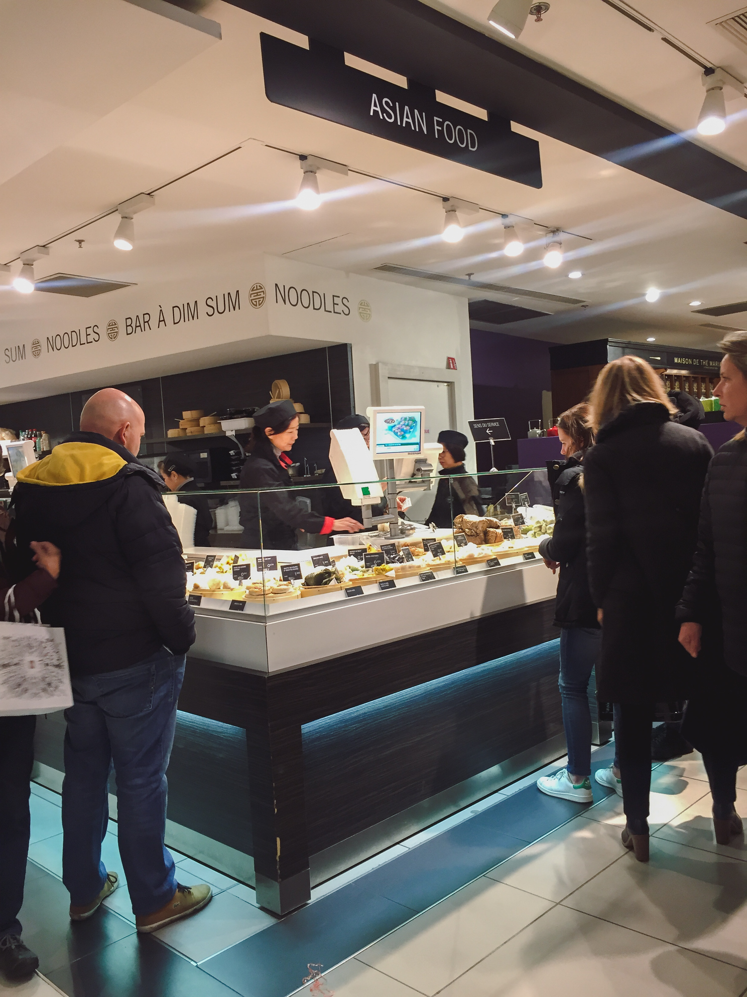 Gourmet food at Galeries Lafayette, a four floor food hall in Paris