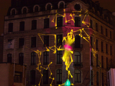 Brussels Ligth Festival 2013 - Mr Beam - welcome Mapping