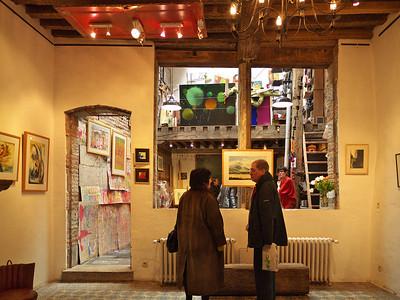 Un atelier insolite à la galerie L'Art Récréation à Mons