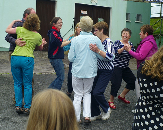 Dancing at Ballinora - the locals try an impromptu set-dance.
