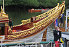 Gloriana's magnificent gilded stern. Note also the painted rudder. The guy in the red trousers doesn't appear to be helping much.... Nikon D300