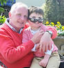 Timmy with Dad Denis - cool shades....