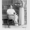 Lion Feuchtwanger and wife Marta in Sanary Library, 1935