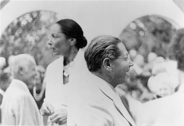 Lion Feuchtwanger and Wife Marta at an event.