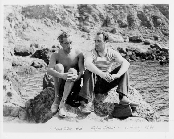 L. Ernst Toller and Stefan Lorant in Sanary 1936