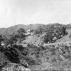 Distant view of Villa Aurora and hillside, 1943