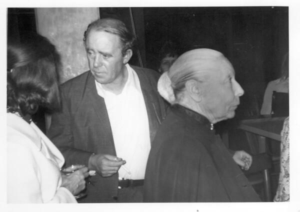 Marta Feuchtwanger at an event, ca. 1970-1980
