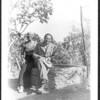 Lion Feuchtwanger and wife Marta in their garden.