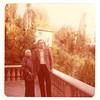 Marta Feuchtwanger and Prof. Ludwig Fischer at Villa Aurora, 1977