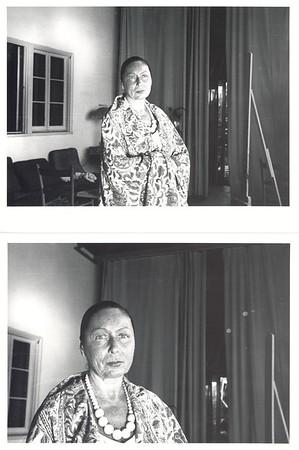 Marta Feuchtwanger in Los Angeles studio of painter Ernest von Leyden, 1945