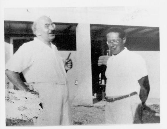 Feuchtwanger and Arnold Zweig in Sanary, France, 1933