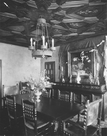 A view of the dining room from 1928