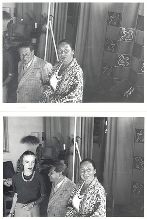 Lion Feuchtwanger and wife Marta in painter Ernest van Leyden's Los Angeles Studio, 1945