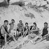 Feuchtwanger, Marta and friends sit on the rocky beaches of Sanary, [s.d.]