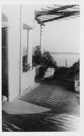 Exterior of Villa Valmer, looking out toward sea