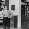 Feuchtwanger standing in his study in Berlin, 1932