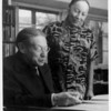 Lion Feuchtwanger and wife Marta in their study.