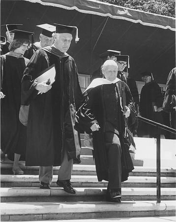 Marta Feuchtwanger receiving her honorary degree, 1980