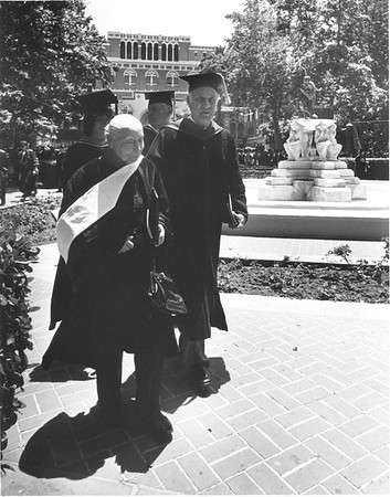 Marta Feuchtwanger receiving her honorary degree, 1980