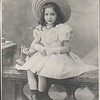 Young Marta Feuchtwanger as a child, about 7 years old, ca. 1895-1905