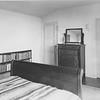 A view of Lion Feuchtwanger's bedroom at Villa Aurora, looking toward the door
