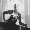 Marta Feuchtwanger in the kitchen of her Palisades home, 1937
