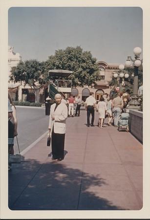 Marta Feuchtwanger at Disneyland, 1966