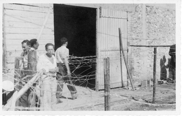 Lion Feuchtwanger behind barbed wire in Les Milles, 1939